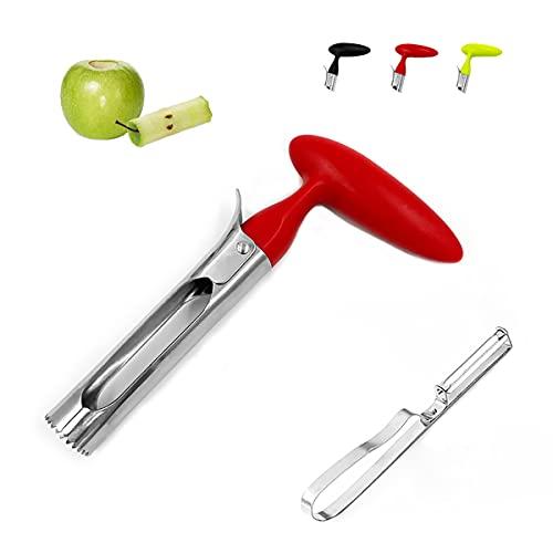 Descorazonador de manzana, herramienta de extracción de núcleo de manzana, descorazonador de frutas y verduras, conveniente para exprimir, perfecto para manzanas y peras, gaggets...