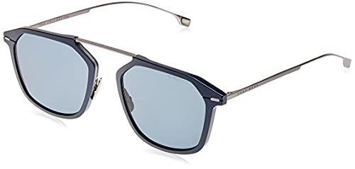 Hugo Boss Boss 1134/S, Gafas de Sol Hombre, Matte Blue, 55