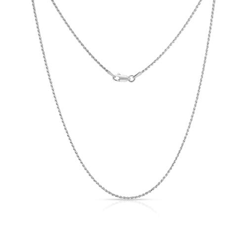 Authentic Solid Sterling Silver Rhodium Rope Diamond-Cut Braided Twist Link .925 ITProLux Necklace Chains 1.2MM - 4MM, 16