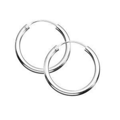 Sterling Silver x 10 mm Sleeper Hoop Earrings