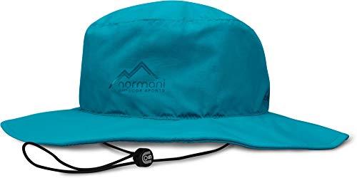 normani Wasserdichter Sonnenhut 2-in-1 Hut - 100% Wind- und wasserdicht, UV-Schutzfaktor 30+ [S-3XL] Farbe Blau Größe XL/61