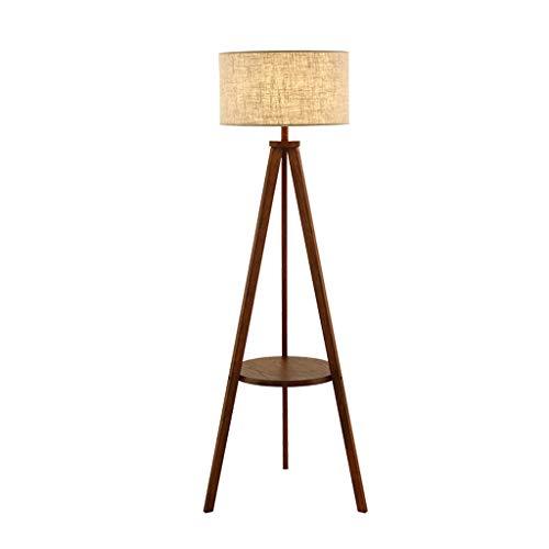 NNIU- salontafel staande lamp, modern houten rek verticale tafellamp woonkamer slaapkamer studie