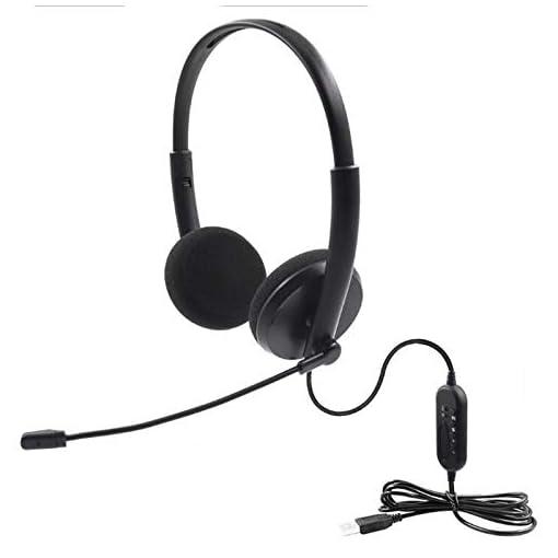 USB Auriculares con Micrófono, Auriculares con Cable Sonido Estéreo y Micrófono USB con Supresión de Ruido Cascos… 5