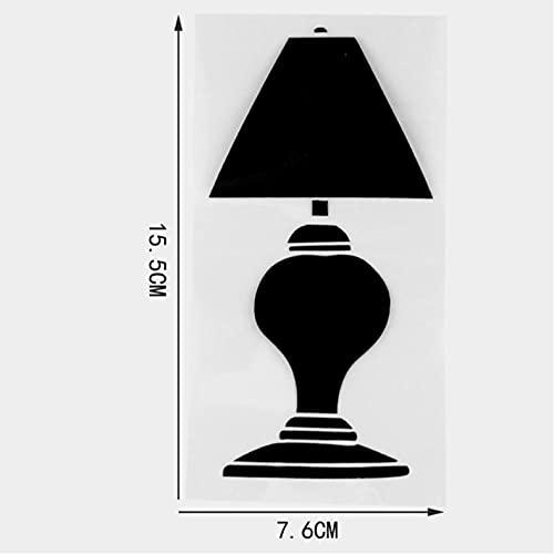 Bbdyhyrqcd 3 Piezas Pegatinas de Coche 7,6 × 15,5 CM lámpara de Mesa diseño Divertido Coche Pegatina decoración Personalizada Vinilo calcomanía