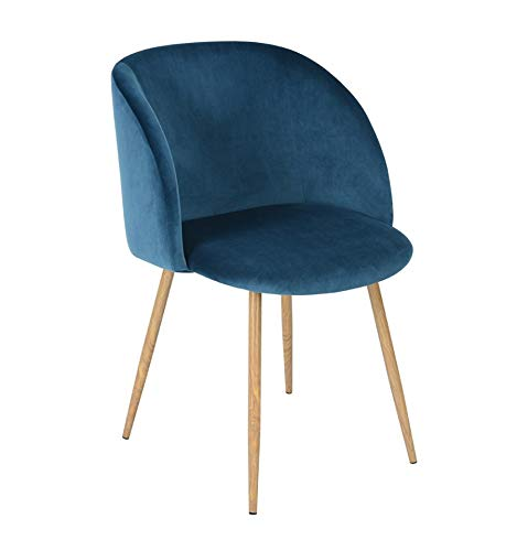 Icons Corner Sillón de Terciopelo Azul Vintage Piaf