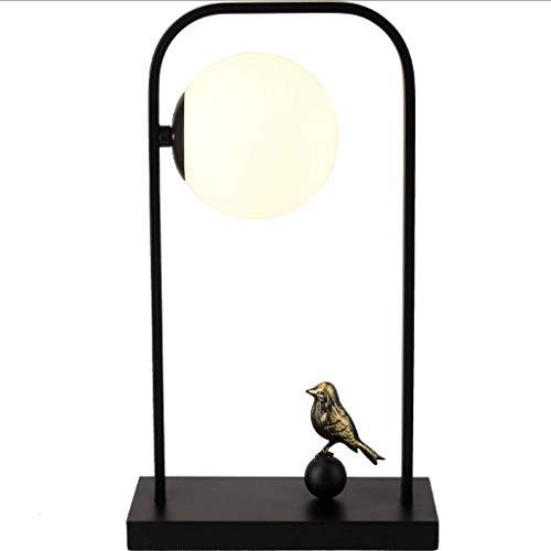 Lámpara de mesa de noche Lámpara de mesa de estilo chino Nueva lámpara de noche en el dormitorio Dormitorio cálido Lámpara de escritorio Lámpara de mesa decorativa de hierro forjado de estilo chino Lá