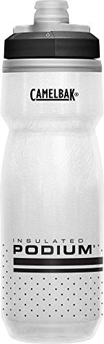 CamelBak Podium Chill Insulated Bike Water Bottle 21 oz, White/Black