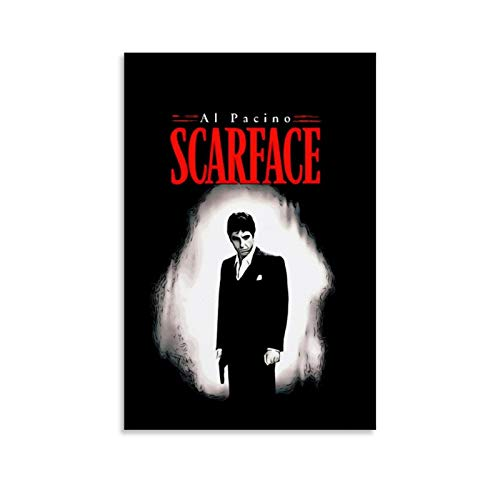 YOSON Scarface Movie Poster 1 Wall Art Decor Canvas Painting Poster Print Canvas Art Pictures for Room Home Decor Unframe-style124x36inch(60x90cm)