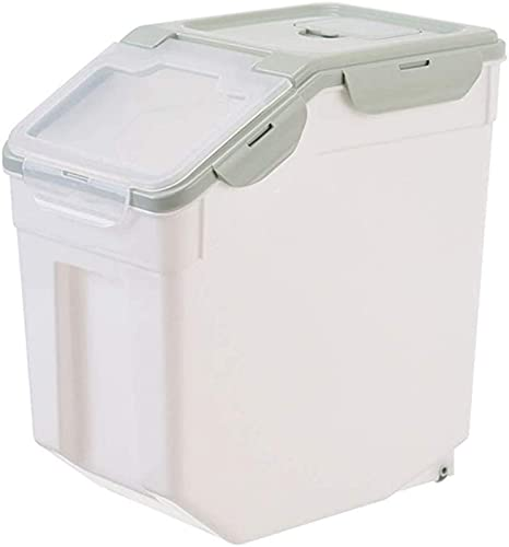 Caja de Almacenamiento de arroz de Cocina para el hogar, Caja de Almacenamiento de refrigerios, Almacenamiento de Comida para Perros y Gatos, sellada y a Prueba de Humedad, con Taza medidora