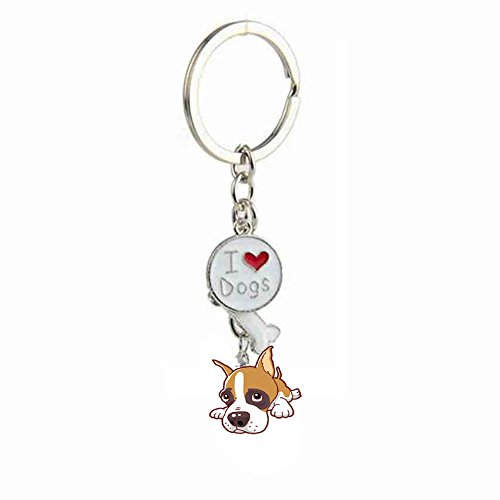 ZoonPark® Hond Sleutelhanger Sleutelhanger, Mooie Leuke Kleine Hond Puppy Sleutelhanger Sleutelhanger Sleutelhanger Sleutelhanger Sleutelhanger Ring Auto Sleutelhanger Tas Bedel