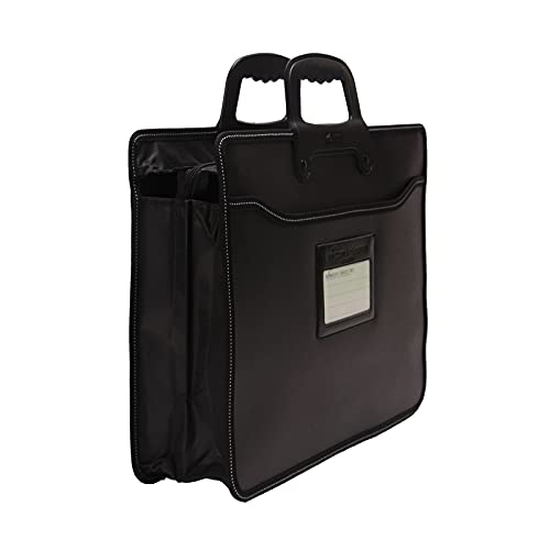 Business Document Bag Top Handle Briefcase Bag Messenger Work Storage Organizer Waterproof Nylon Expanding A4 File Folder Laptop Bag Carrying Handbag Office School Meetting Travel Home Use File Bills
