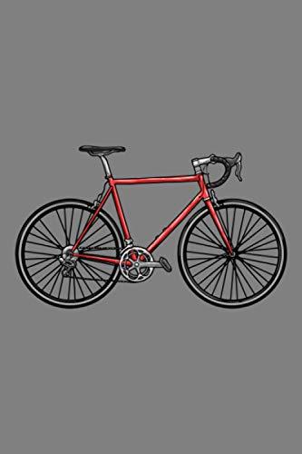 Notizbuch, 120 Seiten: Herrenfahrrad - Rennrad - Fahrrad Notizbuch- Tagebuch - Skizzenbuch - Schulheft für Frauen, Männer und Kinder - Weißes Papier - 6x9 Zoll - Punktraster