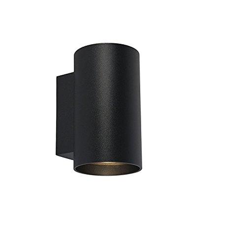 QAZQA Diseño Aplique moderno redondo negro - SANDY