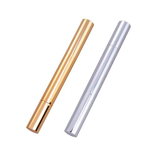 Minkissy 2 Stück Leerer Twist Pen Nachfüllbarer Nagelölstift Nagelhautöl Kosmetischer Lipgloss Tube Behälter Nagelöl Wimpernwachstum Flüssigkeitsbürstenapplikatoren