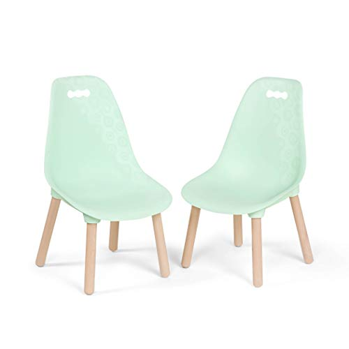 B. spaces by Battat – Kid-Century Modern: Trendy Toddler Chair Set of Two Kids Chairs – Kids Furniture Set for Toddlers and Kids – Mint