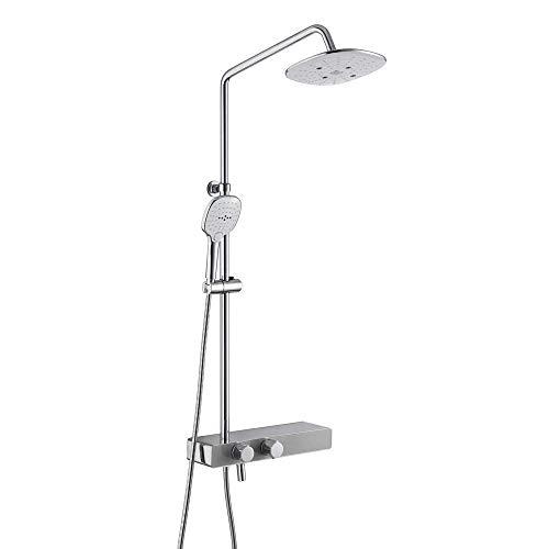 SHATONG Water-Tap Bath Shower Systems Juego de grifos de Ducha de baño, Grifo de Ducha de 3 Funciones para baño, Ducha de Mano de 3 Funciones, Mezclador de Grifo de Montaje en Pared, Juego de Ducha
