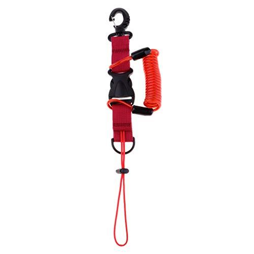 F Fityle Cuerda Elástica para Cámaras de Buceo con Hebilla de Liberación Rápida, Accesorio para Fotografía Submarina - Rojo