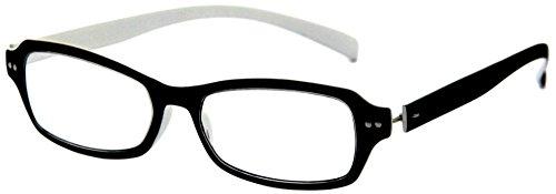 デューク 老眼鏡 +2.5 度数 ネオクラシック 超軽量フレーム ソフトケース付き ラバーブラック ホワイト GLR01-4+2.50