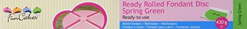 FunCakes Ready Rolled Fondant Disc Spring Green, Grün: Vanillegeschmack, Bereits Ausgerollt, Sehr Einfach, Perfekt zum Dekorieren von Torten, Halal, Koscher und Glutenfrei. 36cm Durchmesser, 3mm, 430g