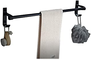 LQQFF Towel Rack - Aluminum Perforated Bathroom Frame/Hardware Storage Wall Hanging/Bathroom Accessories Bathroom Accessories Towel Rack (Color : Matt, Size : Single Pole)