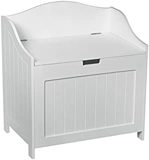 Aspect 56 x 35.5 x 61.5 cm Wooden MDF Oslo Bathroom Storage Cabinet/Laundry Bin/Toy Box, White