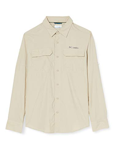 Columbia Silver Ridge II, Chemise à Manches Longues, Homme,, 100% Nylon, Beige (Fossil), Taille US : L, 1794941160L