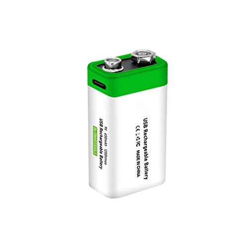 Maril 9V Block Batterien Akku 6F22 LiIonen 650mAh Höchste Leistung Lithiumionen BatterieWiederaufladbare LiIon Akku 9V 650mAh Für Rauchmelder Multimeter Alarmsystem Walkie Talkie Like-Minded