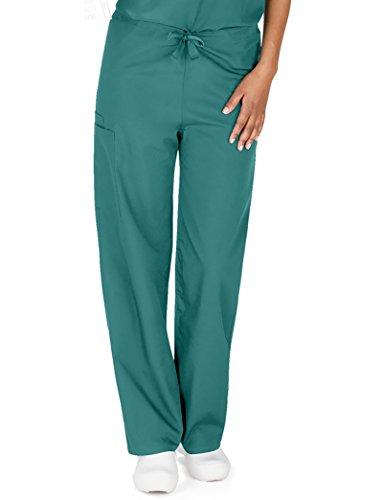 Cherokee Originals Unisex Drawstring Cargo Scrubs Pant, Surgical Green, X-Small