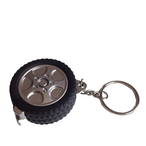 1 m forma de neumático centímetro/pies para viajes, camping, mini cinta métrica retráctil cinta métrica cinta métrica cinta métrica llavero regla Francia, forma de neumático