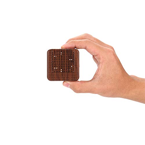 Wood Grain Portable Diffuser for Essential Oils – Car or Travel, Mini Size, Quiet, Waterless, Re-chargeable Battery or USB (dark brown)