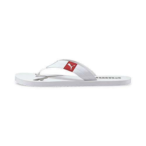 PUMA Cozy Flip, Zapatos de Playa y Piscina Unisex Adulto, Blanco White/High Risk Red, 44.5 EU