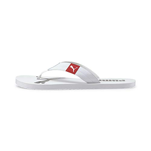 PUMA Cozy Flip, Zapatos de Playa y Piscina Unisex Adulto, Blanco White-High Risk Red, 44.5 EU
