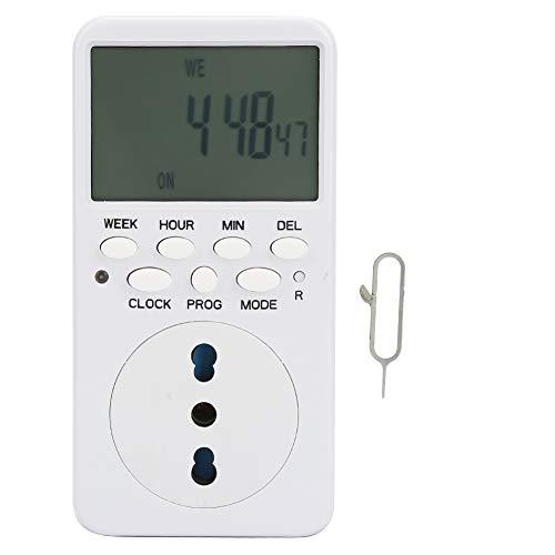 Dispositivo de Cuenta Regresiva de/Off, 1 min mínimo de Ajuste mínimo Tiempo de intervalo de plástico + -1s / día -1s / día (Blanco)