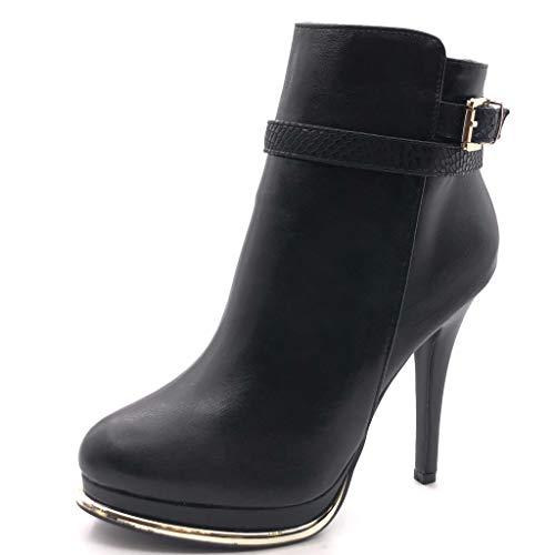 Angkorly - Damen Schuhe Stiefeletten - Plateauschuhe - Sexy - Stiletto - String Tanga -...