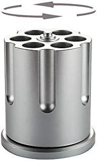 Rotating Revolver Pencil Holder Gun Cylinder Pen Holder 6 Hole Metal Gun Barrel Design Heavy product image