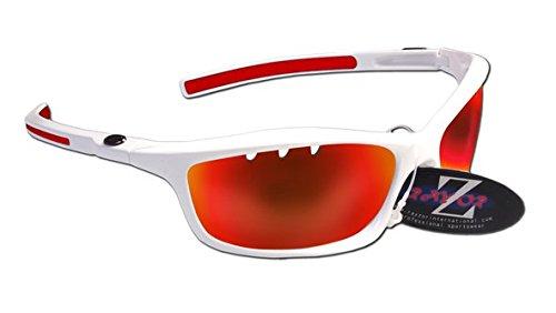 RayZor Lunettes de soleil de sport légères et incassables - Pour homme et femme - Protection des yeux UV400 - Verres anti-reflets Cat 3 pour tir à l'arc, pêche, voile, randonnée, chasse