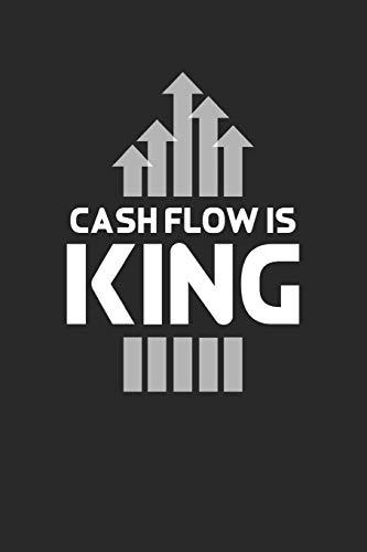 Notizbuch: Aktien, ETF, Fond, Reit und Anleihen Notizen für jeden Trader, Aktienhändler oder Privatanleger ♦ über 100 Seiten für alle Notizen, Kurse, ... 6x9 Format ♦ Motiv: Cashflow is king 11