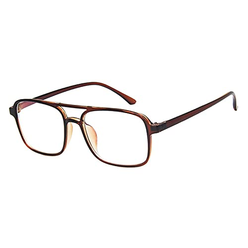 NJJX El Filtro De Bloqueo De Luz Azul Reduce La Fatiga Ocular Digital Moda Para Hombres Gafas Ópticas Montura De Lentes Transparentes Gafas Marrón