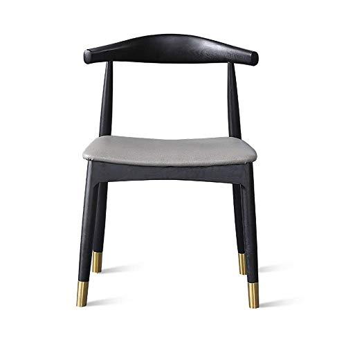 FTFTO Dekoration Zubehör Esszimmerstühle Mid Century Modern Kitchen Esszimmerstühle mit gebogener Rückseite Holz (Farbgröße: 46x46x76cm)