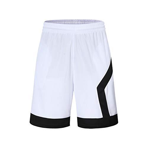 Mikelabo Pantalones cortos de baloncesto de verano, pantalones cortos deportivos de 3/4 para hombre, con cordón, para entrenamiento, baloncesto, pantalones cortos con cremallera