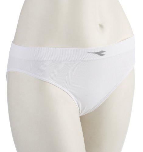 Diadora Hidden Power Damen Funktionsunterhose Pro Sportslip (White), Weiss, XS