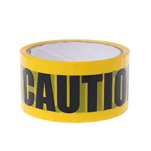 HOWWOH 1 Roll 25m Yellow OPP Warning Tapes Caution Mark covid 19 (Caution 1 Roll coronavirus)