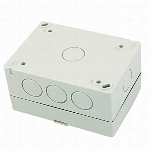 AC110-250V 20A 4 Gang 2 Way On/Off Impermeable Botón de presión Interruptor de pared Enchufe