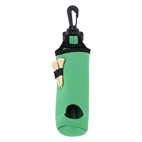 Dwawoo Bolsa de la Pelota de Golf, Paquete utilitario del Almacenamiento de Las Bolas de Golf del Neopreno del Bolso de la Camiseta de Golf con 3 Tees de Golf(Verde)