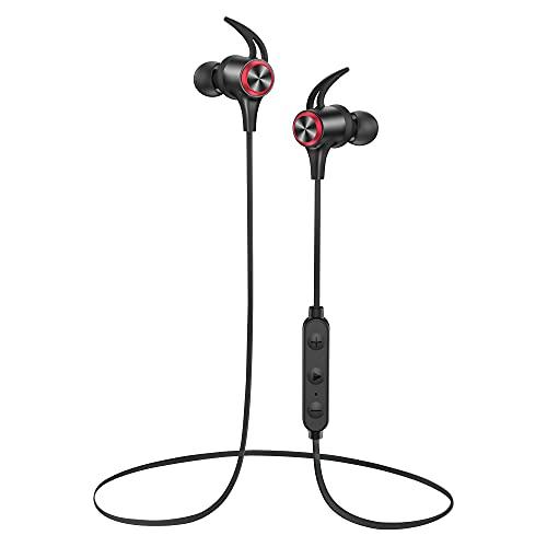 Bluetooth Kopfhörer in Ear Bluetooth 5.0 Sportkopfhörer aptX HD Audio CVC8.0 Mikrofon IPX7 Wasserdicht 16 Std Spielzeit 3EQ Einstellungen Magnetisch Clip für ios Android uws