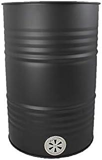 A. Weyck Tools Feuertonne für Feuerplatte mit Lüftungsregulierung aus Edelstahl Stahlfass Metallfass hitzebeständig pulverbeschichtet 200l BBQ Grill 14