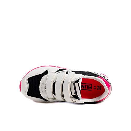 MUNICH 8207 Zapatillas bajo Junior Unisex Blanco/Negro/Fucsia 32