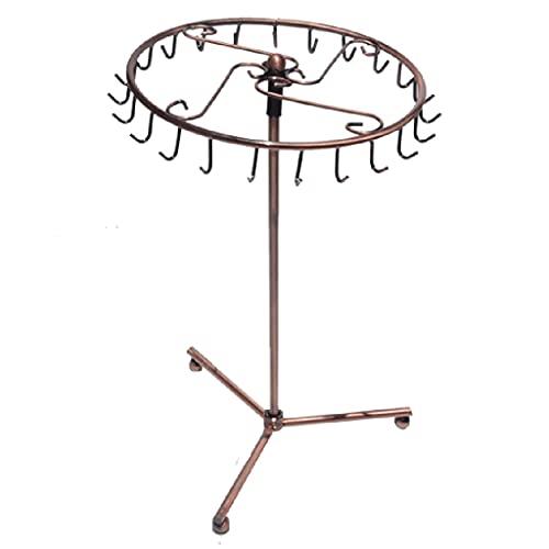 LZL Estante de la joyería Organizador de la joyería Pantalla de Soporte Torre de Soporte, 23 Ganchos Collar de rotación Pulsera Pendiente Pendiente Titular de la joyería