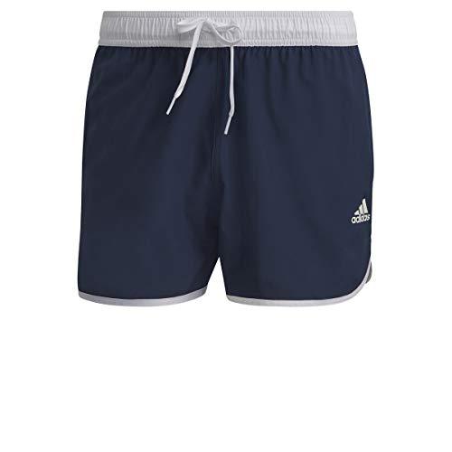 adidas Split Clx Sh Costume da Bagno da Uomo, Uomo, Costume da Bagno, GQ1078, Blu/Bianco (Azmatr/Blanco), S