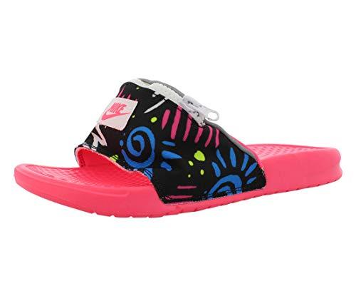 Nike Benassi JDI Fanny Pack 80's Slides (Pink/Black, 7 M US)